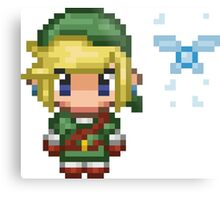 Pixel Link & Navi - Ocarina of Time (without text) Metal Print