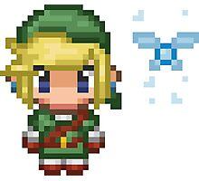 Pixel Link & Navi - Ocarina of Time (without text) Photographic Print