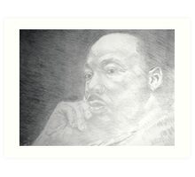 Martin Luther King, Jr. - Christ-like  Art Print