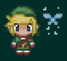 Pixel Link & Navi - Ocarina of Time (without text) by blindcoco