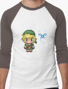 Pixel Link & Navi - Ocarina of Time (without text) Men's Baseball ¾ T-Shirt