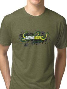 Shubway eat flesh Tri-blend T-Shirt