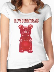 (✿◠‿◠) I LOVE GUMMY BEARS TEE SHIRT & VARIOUS-- APPAREL (✿◠‿◠) Women's Fitted Scoop T-Shirt