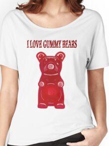 (✿◠‿◠) I LOVE GUMMY BEARS TEE SHIRT & VARIOUS-- APPAREL (✿◠‿◠) Women's Relaxed Fit T-Shirt