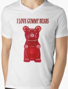(✿◠‿◠) I LOVE GUMMY BEARS TEE SHIRT & VARIOUS-- APPAREL (✿◠‿◠) Mens V-Neck T-Shirt