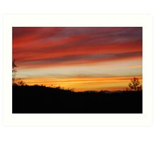 Blue Point Sunsets 10 Art Print