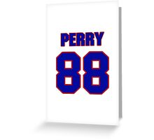 National football player Tab Perry jersey 88 Greeting Card