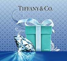 Tiffany Blue Box & Huge Diamond by Everett Day
