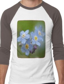 The Forget-Me-Nots of the Angels Greeting Card Quote Men's Baseball ¾ T-Shirt