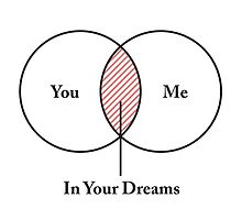 You and Me In Your Dreams Venn Diagram by TheShirtYurt