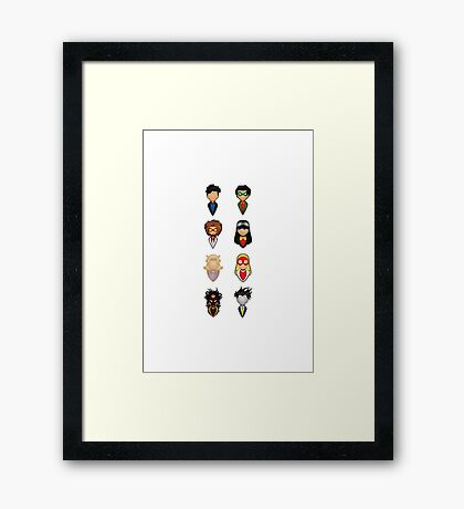 Young Justice - Collective Framed Print