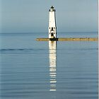 Frankfort Lighthouse by F.  Kevin  Wynkoop