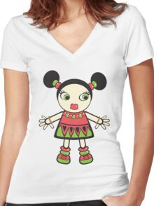 watermelon baby Women's Fitted V-Neck T-Shirt