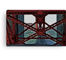 Under The GoldenGate Bridge Looking Toward Marin. Canvas Print