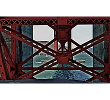 Under The GoldenGate Bridge Looking Toward Marin. Photographic Print