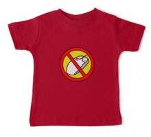 NO COMPUTER MOUSE TRAFFIC SIGN  Baby Tee