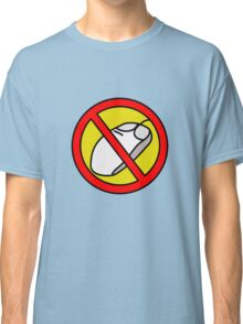 NO COMPUTER MOUSE TRAFFIC SIGN  Classic T-Shirt