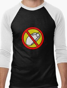 NO COMPUTER MOUSE TRAFFIC SIGN  Men's Baseball ¾ T-Shirt