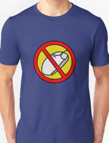 NO COMPUTER MOUSE TRAFFIC SIGN  T-Shirt