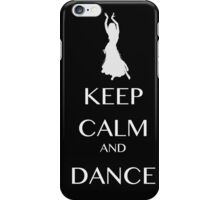 keep calm and dance white  iPhone Case/Skin