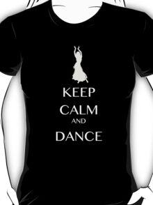 keep calm and dance white  T-Shirt