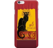 Le Chat D'Amour with Theatrical Curtain Border iPhone Case/Skin