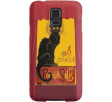 Le Chat D'Amour with Theatrical Curtain Border Samsung Galaxy Case/Skin