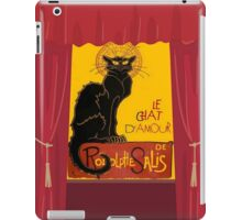 Le Chat D'Amour with Theatrical Curtain Border iPad Case/Skin