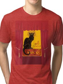 Le Chat D'Amour with Theatrical Curtain Border Tri-blend T-Shirt