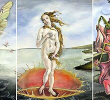 Venus on a Flytrap [full triptych] by GaeaElf