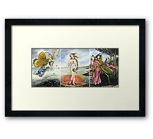 Venus on a Flytrap [full triptych] Framed Print