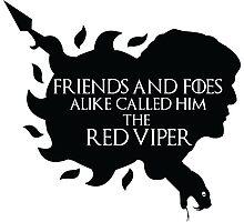 Oberyn Martell- Red Viper (Black) Photographic Print