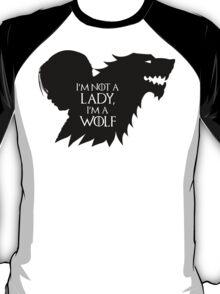 Arya Stark- Im a Wolf (Black) T-Shirt