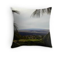 Resort in Lava Field Throw Pillow