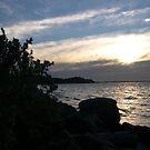Sun set - dusk on the beach by oiseau