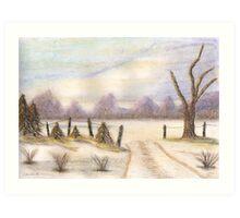 Winter Snow Scene Art Print