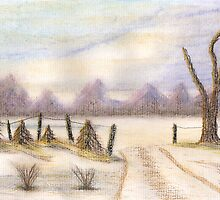 Winter Snow Scene by David Roberts
