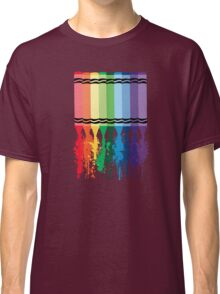 Spattered Crayons  Classic T-Shirt