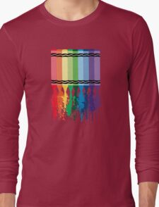 Spattered Crayons  Long Sleeve T-Shirt
