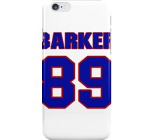 National football player Ed Barker jersey 89 iPhone Case/Skin