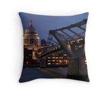 Millenium Bridge to St Pauls Throw Pillow