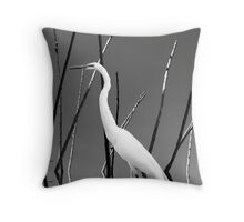 Water Bird Throw Pillow