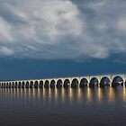 Dawn Bridge Reflections by Russell Fry