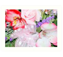 Boquet With Bow Art Print