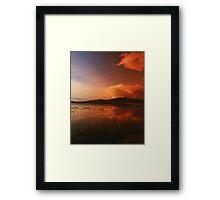Surreal Sunset (Jericho Beach B.C.) Framed Print
