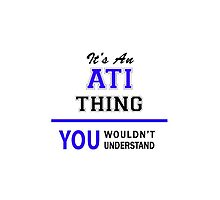 It's an ATI thing, you wouldn't understand !! by allnames