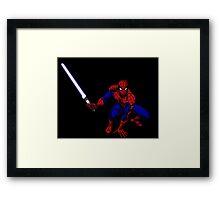 Spider-Man: Jedi Master Framed Print