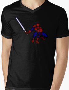 Spider-Man: Jedi Master Mens V-Neck T-Shirt