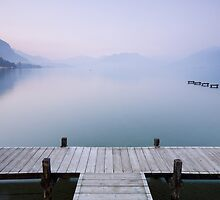 A very soft dawn on Annecy lake by Patrick Morand