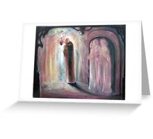 The Achemist with Muses Greeting Card